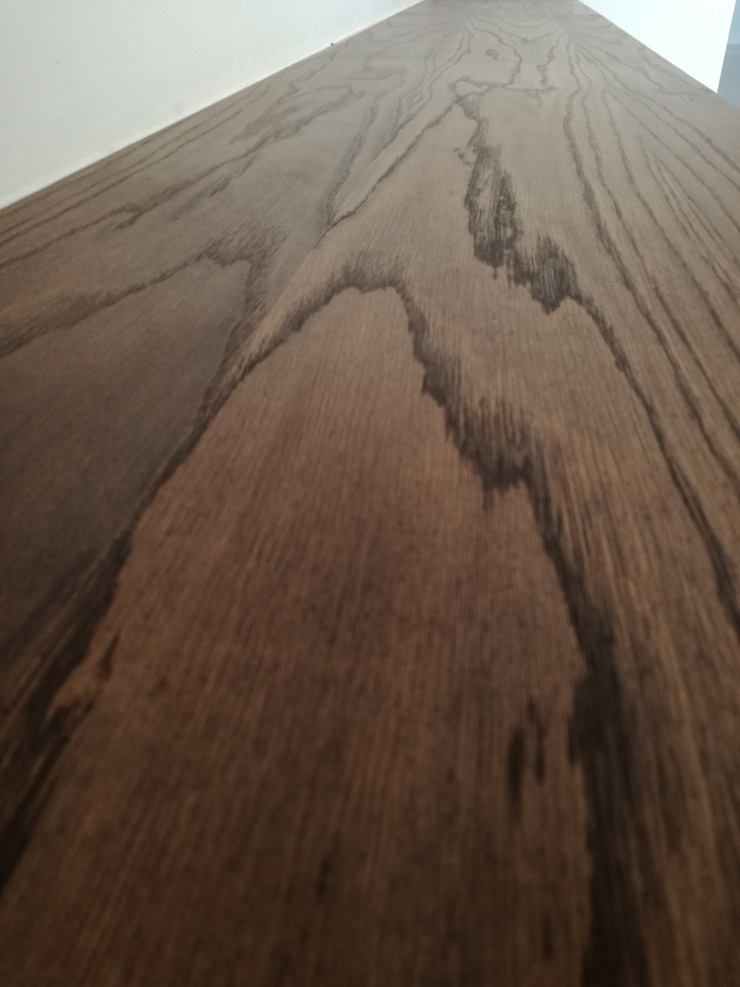 white oak with dark smoke oil paint by Première Interior Designs Classic Wood Wood effect