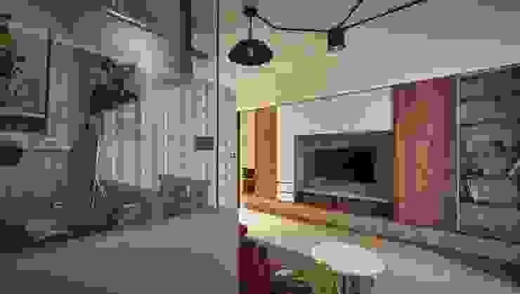 高雄L宅 现代客厅設計點子、靈感 & 圖片 根據 勁懷設計 現代風 木頭 Wood effect