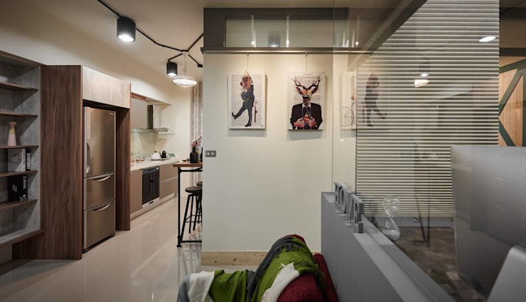 高雄L宅 现代客厅設計點子、靈感 & 圖片 根據 勁懷設計 現代風