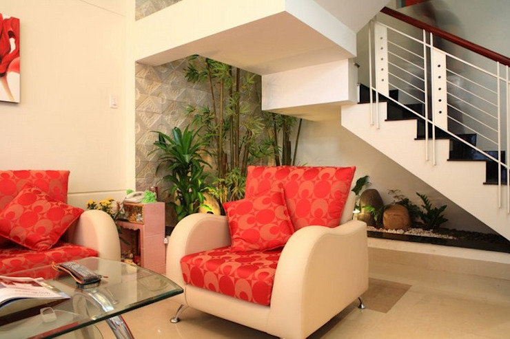 Phòng khách – phòng bếp sang trọng, đầy ấm áp bởi Công ty TNHH Xây Dựng TM – DV Song Phát Hiện đại