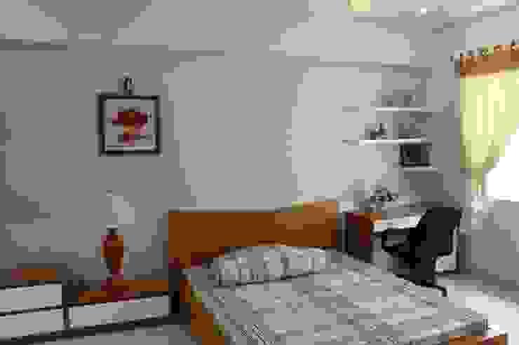 Thiết Kế Nhà Phố 3 Tầng Đẹp 5x20m Có Hầm Gara Rộng Rãi Phòng ngủ phong cách hiện đại bởi Công ty TNHH Xây Dựng TM – DV Song Phát Hiện đại