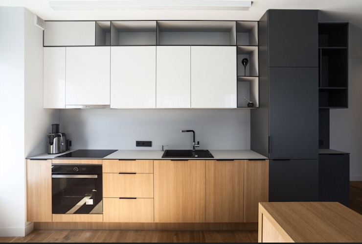 Space Saving Kitchen by Rebel Designs Modern Plywood