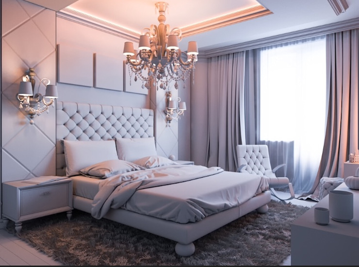 Luxury Bedroom: minimalist  by Rebel Designs,Minimalist Leather Grey
