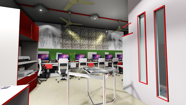 Workstation Area: modern  by Cfolios Design And Construction Solutions Pvt Ltd,Modern