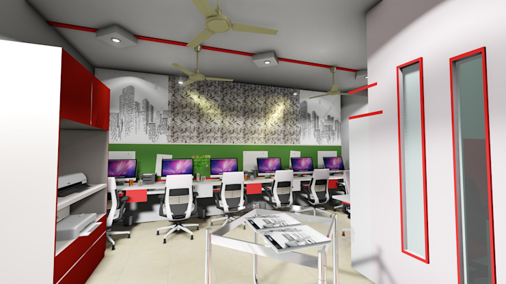 Cfolios Office @ Vijayapura: modern  by Cfolios Design And Construction Solutions Pvt Ltd,Modern
