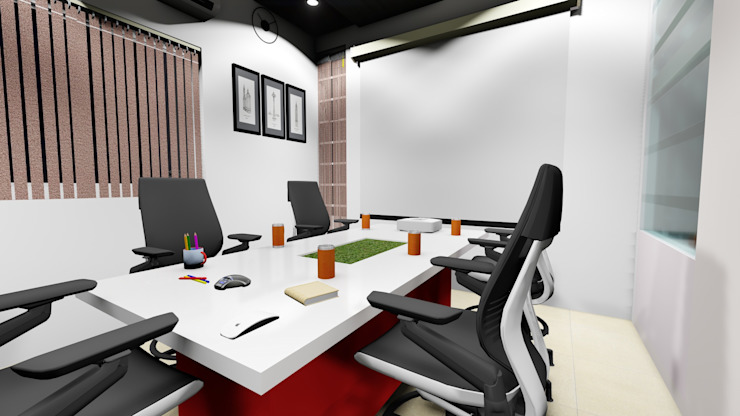 Conference Room: modern  by Cfolios Design And Construction Solutions Pvt Ltd,Modern