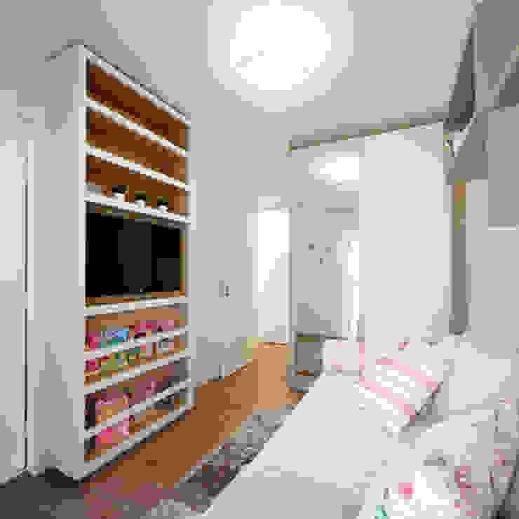 Aline Dinis Arquitetura de Interiores Kamar tidur anak perempuan MDF Pink