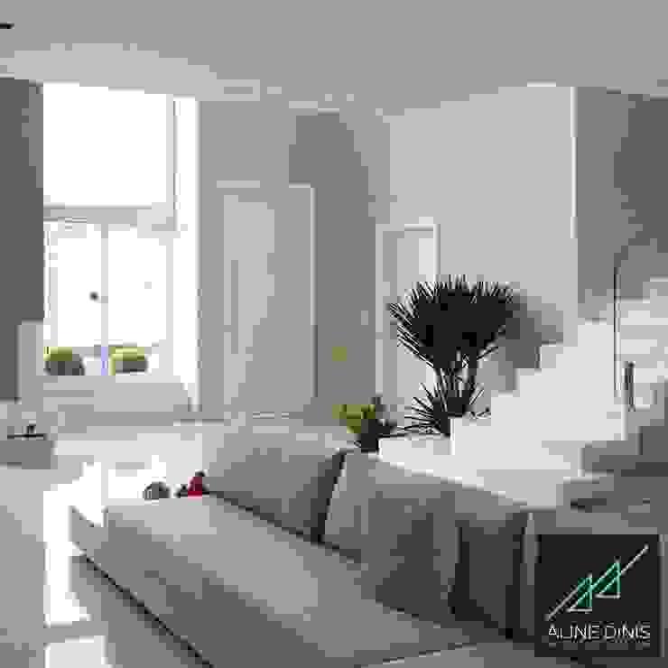 AD | House: Salas de estar  por Aline Dinis Arquitetura de Interiores,Minimalista Mármore