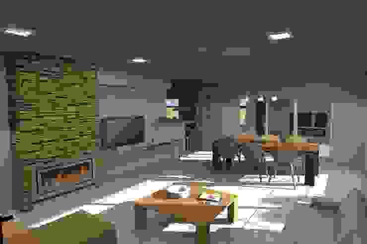 Estar comedor Comedores modernos de Arquitectura Bur Zurita Moderno