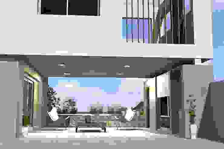 Espacio semicubierto flexible de Arquitectura Bur Zurita Moderno