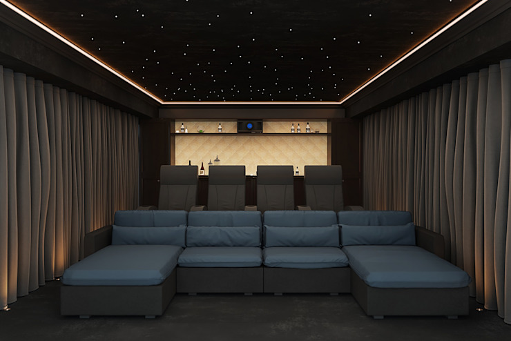 Home Cinema Room in Knutsford, Cheshire bởi Custom Controls Hiện đại