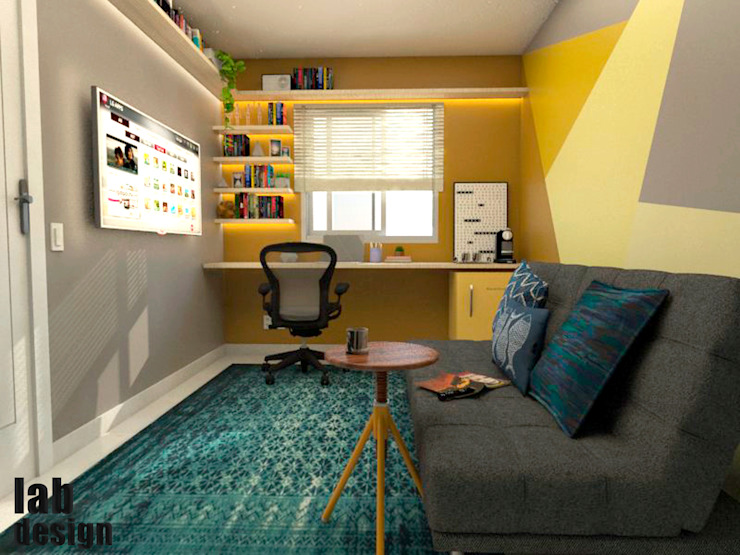 Home Office FR LabDesign Escritórios modernos