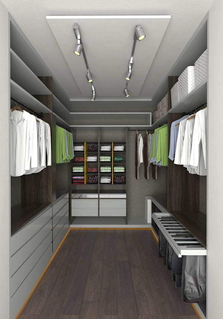 Murat Aksel Architecture Modern style dressing rooms Wood White