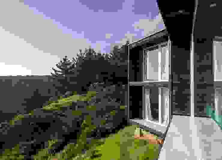 Casa Curaumilla de Crescente Böhme Arquitectos Moderno Madera Acabado en madera