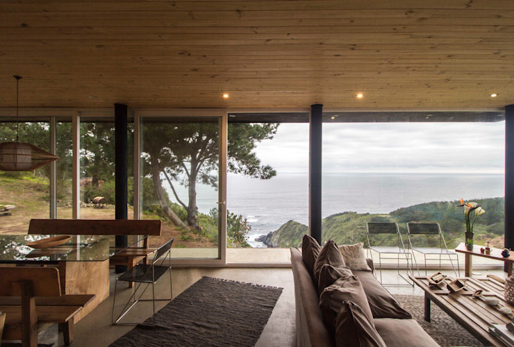 Modern Living Room by Crescente Böhme Arquitectos Modern Wood Wood effect