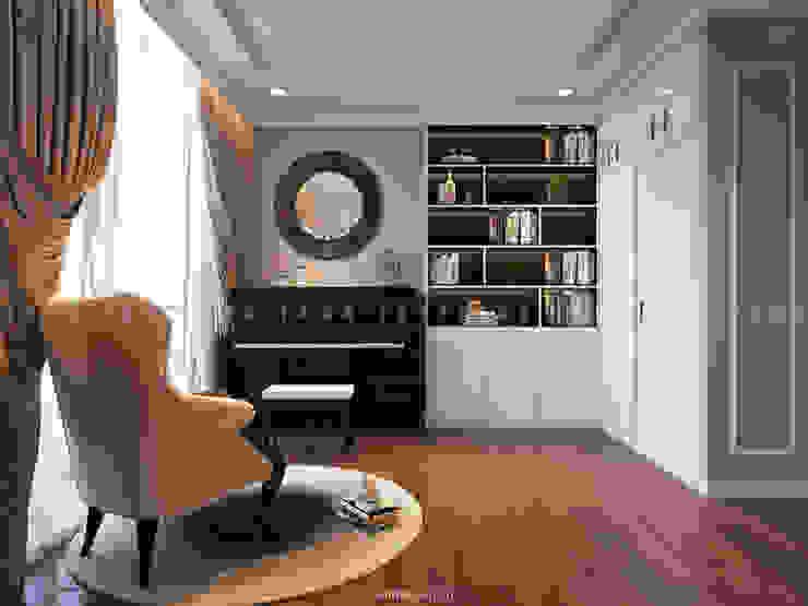 Nội thất căn hộ Vinhomes Central Park - Phong cách Tân Cổ Điển Phòng giải trí phong cách kinh điển bởi ICON INTERIOR Kinh điển