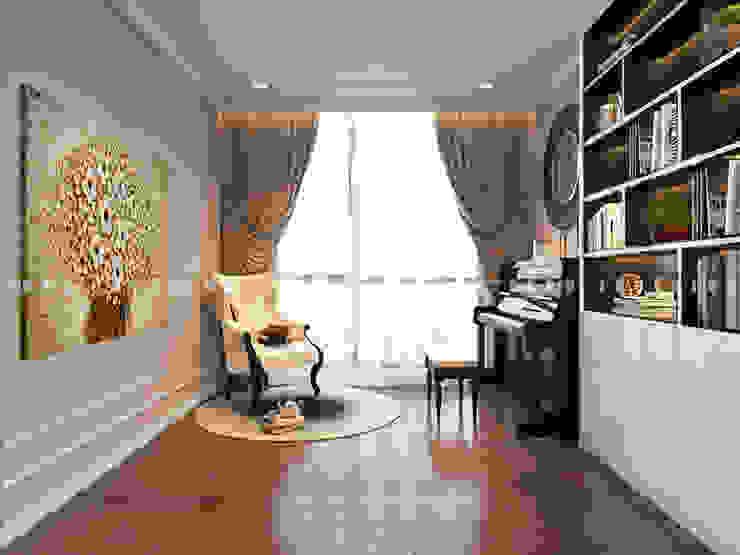 Nội thất căn hộ Vinhomes Central Park – Phong cách Tân Cổ Điển Phòng giải trí phong cách kinh điển bởi ICON INTERIOR Kinh điển