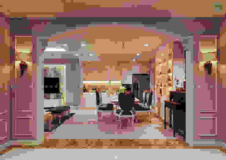 Nội thất căn hộ Vinhomes Central Park – Phong cách Tân Cổ Điển Phòng ăn phong cách kinh điển bởi ICON INTERIOR Kinh điển