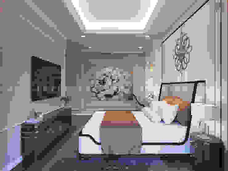 Nội thất căn hộ Vinhomes Central Park – Phong cách Tân Cổ Điển Phòng ngủ phong cách kinh điển bởi ICON INTERIOR Kinh điển
