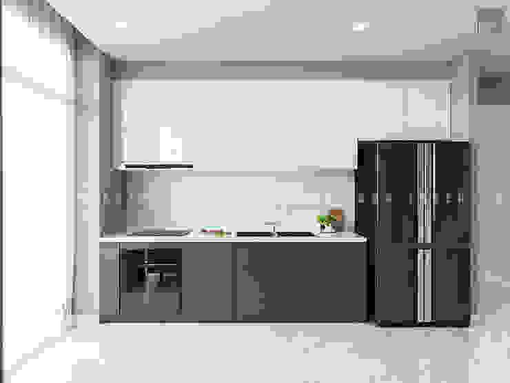 Nội thất căn hộ Vinhomes Ba Son – ICON INTERIOR Nhà bếp phong cách Bắc Âu bởi ICON INTERIOR Bắc Âu