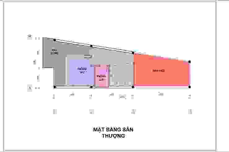 Bản vẽ mặt bằng lầu 3 nhà phố 4 tầng. bởi Công ty TNHH TK XD Song Phát Hiện đại Đồng / Đồng / Đồng thau