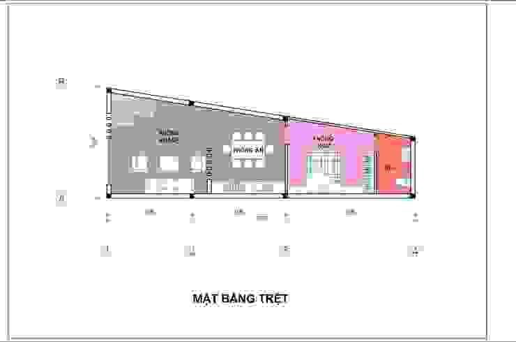 Bản vẽ mặt bằng tầng trệt. bởi Công ty TNHH TK XD Song Phát Hiện đại Đồng / Đồng / Đồng thau