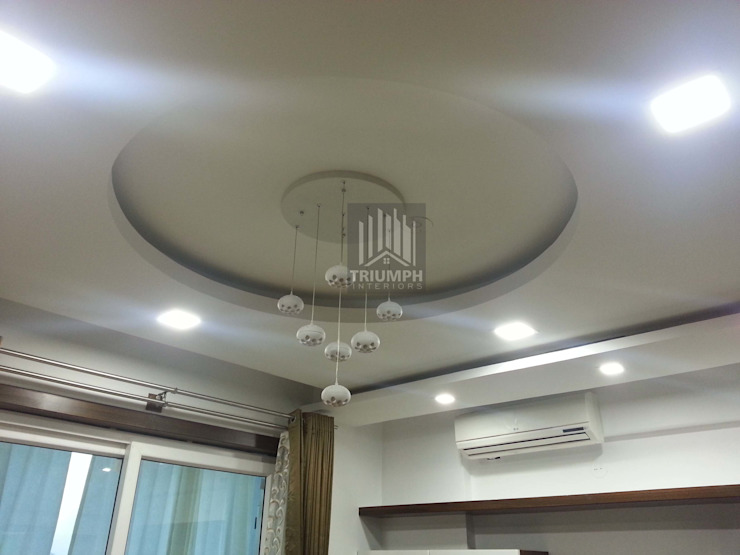 False Ceiling Guestbed room: modern  by TRIUMPH INTERIORS, Modern
