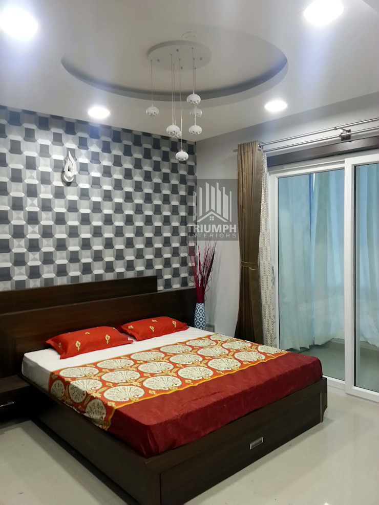Guestbed Rom Bed: modern  by TRIUMPH INTERIORS, Modern