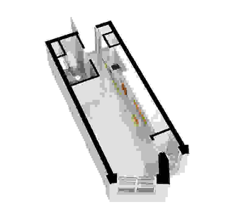 안산 센터하임 오피스텔 모델하우스 / D1-Type 모던스타일 다이닝 룸 by 에이프릴디아 모던