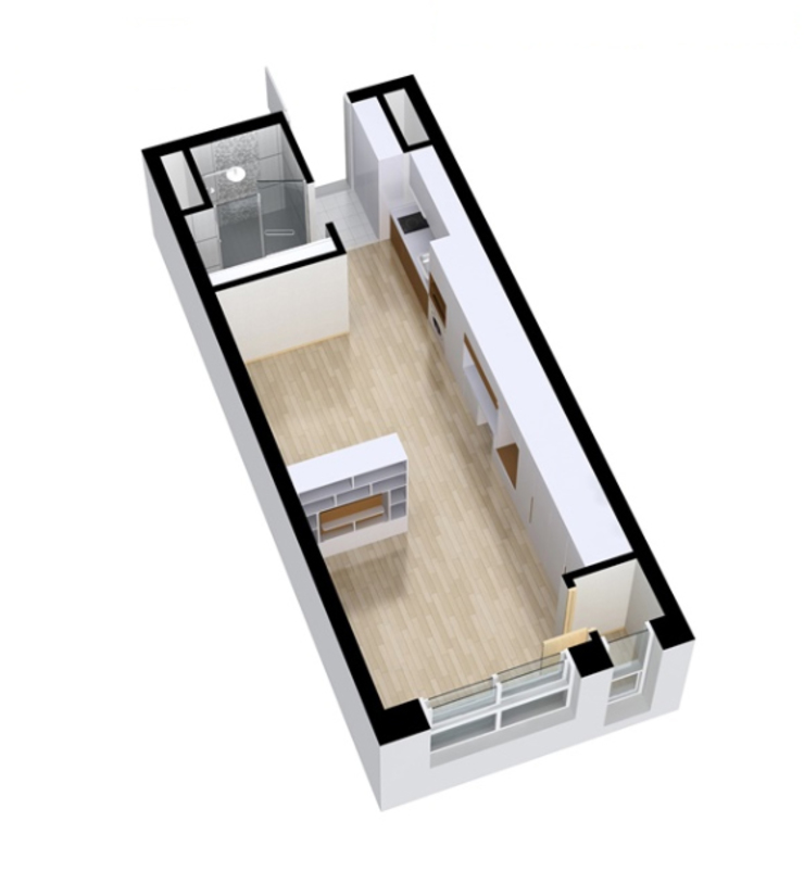 안산 센터하임 오피스텔 모델하우스 / F2-Type 모던스타일 다이닝 룸 by 에이프릴디아 모던