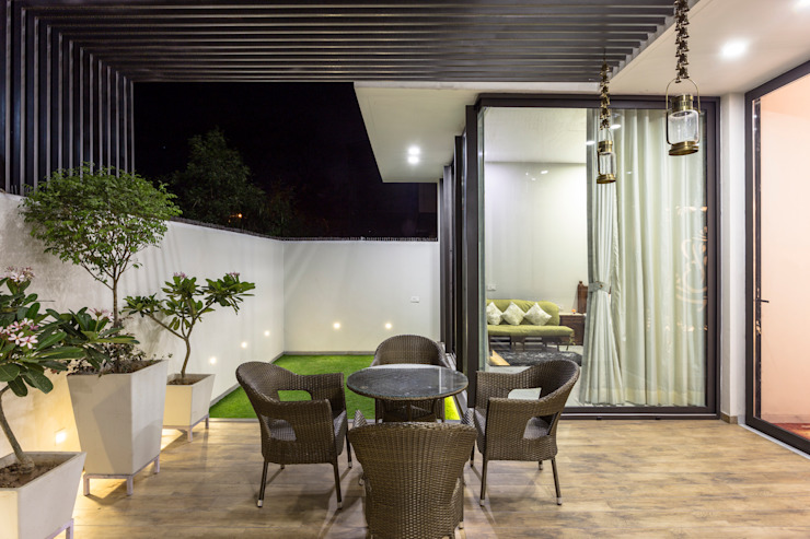 Oleh Garg Architects Modern Kayu Wood effect