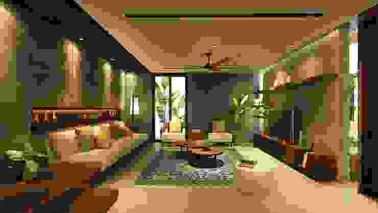 Salon de style  par Văn Phòng Kiến Trúc Một Nhà,