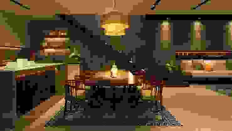 Ruang Makan Minimalis Oleh Văn Phòng Kiến Trúc Một Nhà Minimalis