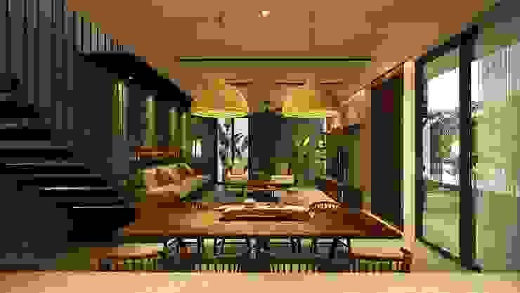 Cầu Giấy House Phòng khách phong cách tối giản bởi Văn Phòng Kiến Trúc Một Nhà Tối giản
