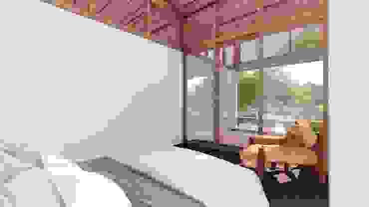 Minimalist bedroom by ArqClub - Studio de Arquitetura Minimalist Wood Wood effect