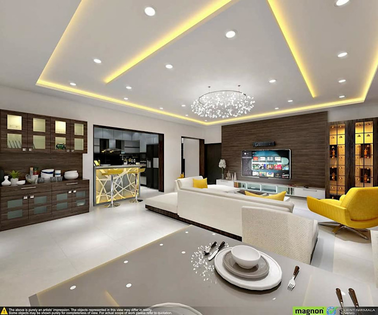 Living Room Concept: How To Create An Ambience In Your Living Room ?: modern  by Magnon India - Interior Designers in Bangalore,Modern