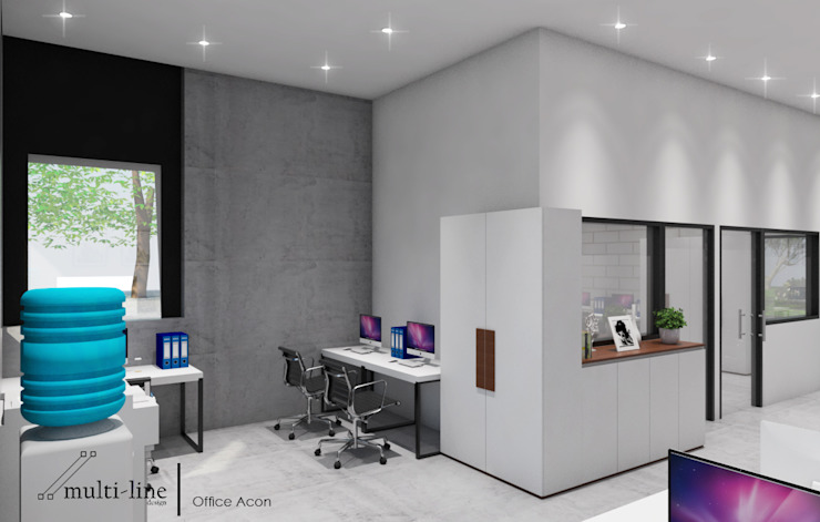 Acon Office Building Bangunan Kantor Gaya Industrial Oleh Multiline Design Industrial