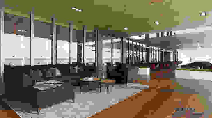 Suvarna Golf CLub House - Restaurant Area Ruang Komersial Tropis Oleh Multiline Design Tropis