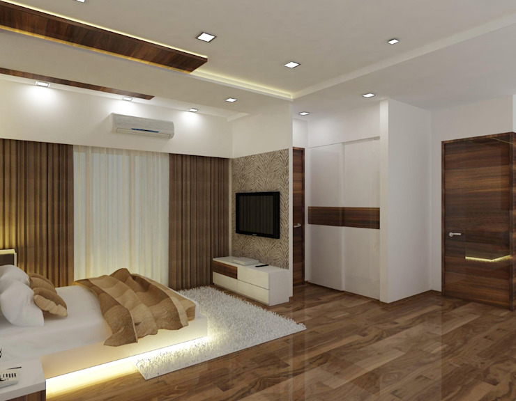 Modern style bedroom by A Design Studio Modern Wood Wood effect