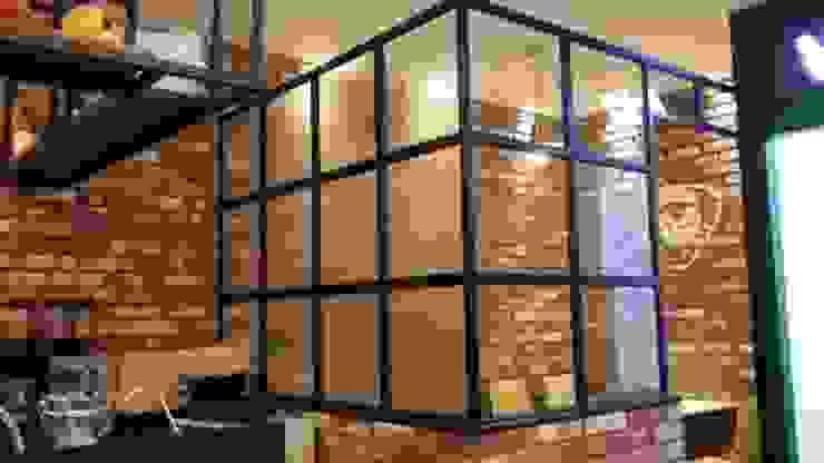 카페 회의룸 모던스타일 미디어 룸 by 디자인브라더스 모던 철 / 철강