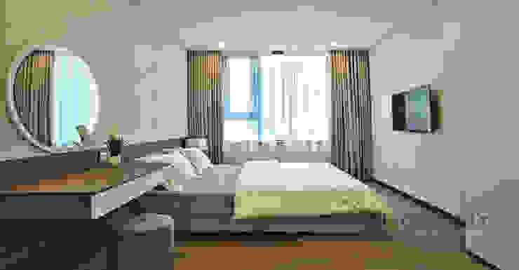 Nội thất phòng ngủ đơn giản Phòng ngủ phong cách hiện đại bởi Thương hiệu Nội Thất Hoàn Mỹ Hiện đại