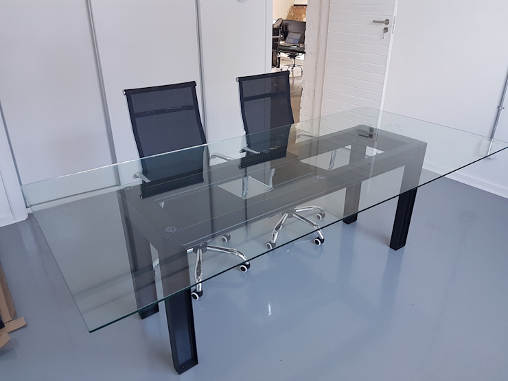 Office Desk: industrial  by Ciber Steel Worx (PTY) LTD, Industrial Metal