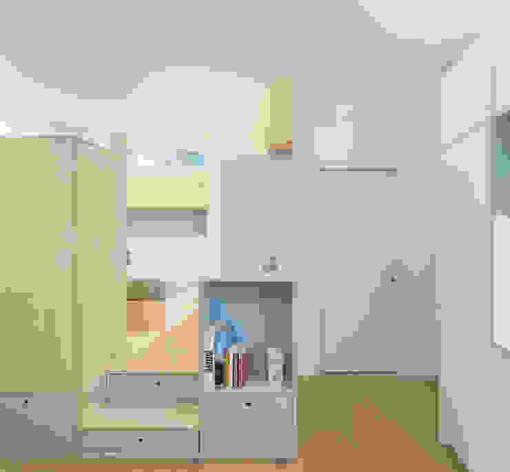 北欧スタイルの 寝室 の PLUS ULTRA studio 北欧