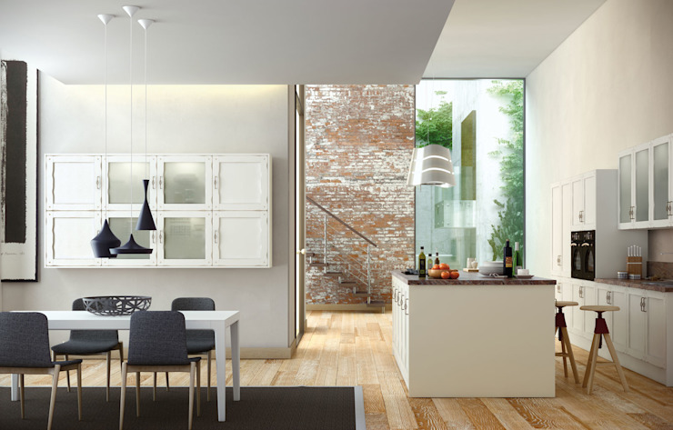 Isoko Proyecto Built-in kitchens Solid Wood Wood effect