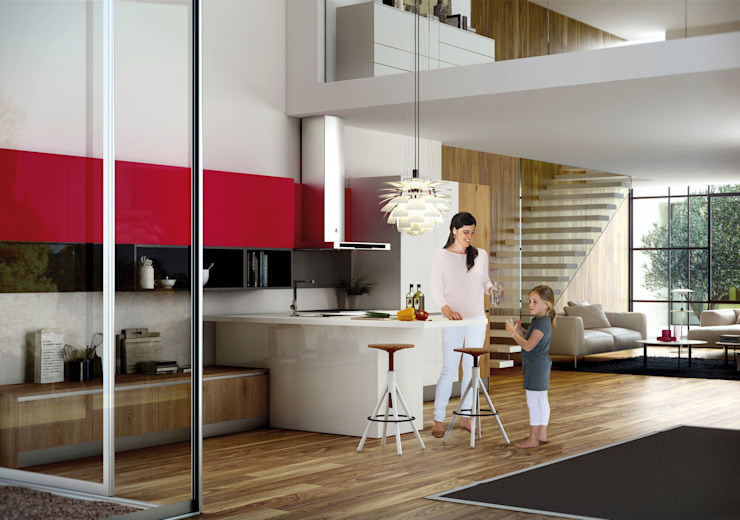 Isoko Proyecto Built-in kitchens Wood-Plastic Composite Multicolored