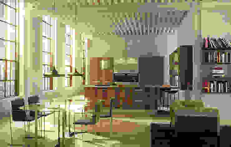 Isoko Proyecto Built-in kitchens Wood-Plastic Composite Wood effect