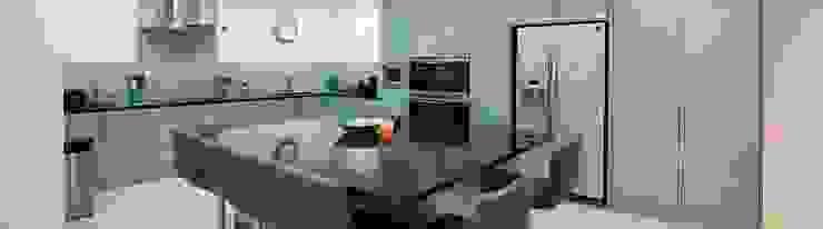 Large central kitchen island Modern Kitchen by Cleveland Kitchens Modern