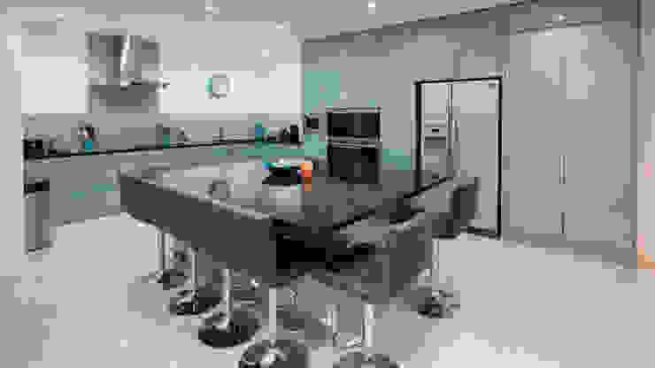 Gloss Blue Kitchen Modern Kitchen by Cleveland Kitchens Modern