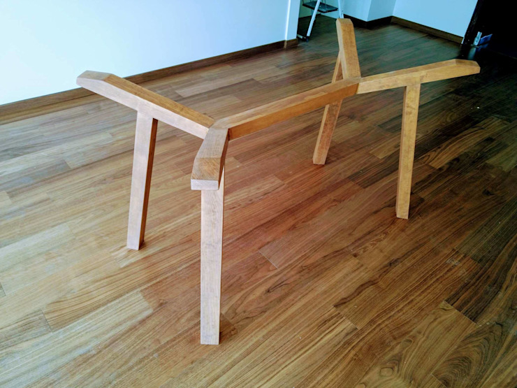 Persianas y carpintería en departamento de Estilo en muebles Moderno Madera maciza Multicolor