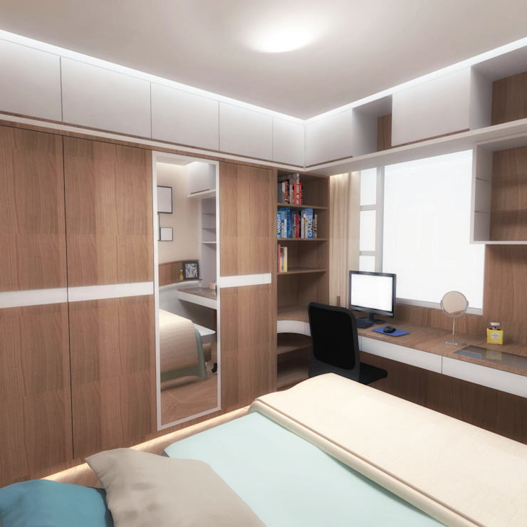 Half & Half Circle Residenence Modern style bedroom by TheeAe Architects Modern